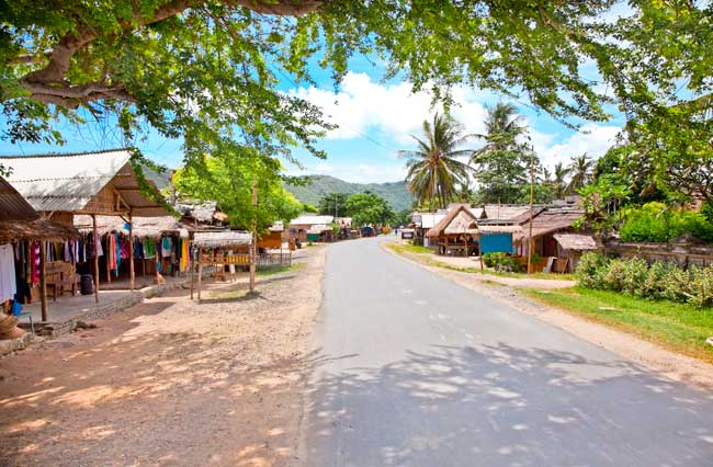 Kuta is one of the main villages of Lombok.