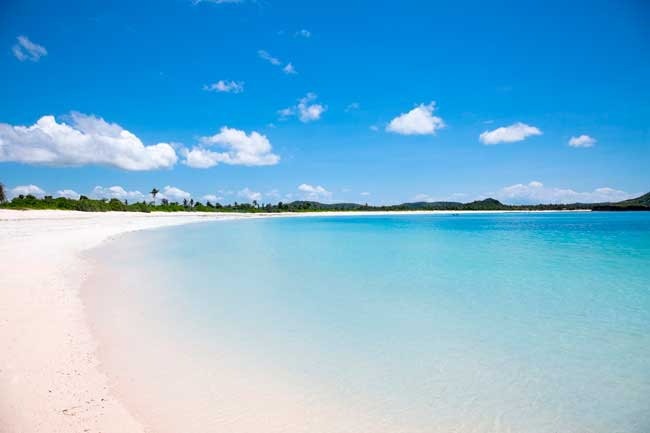 Tanjung Aan beach is one of the most beautiful beaches in Lombok featuring for its white sand.